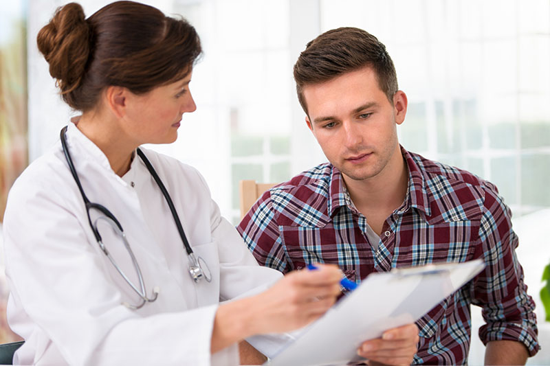 Patient seeing a doctor after Auto Accident | One Law Group