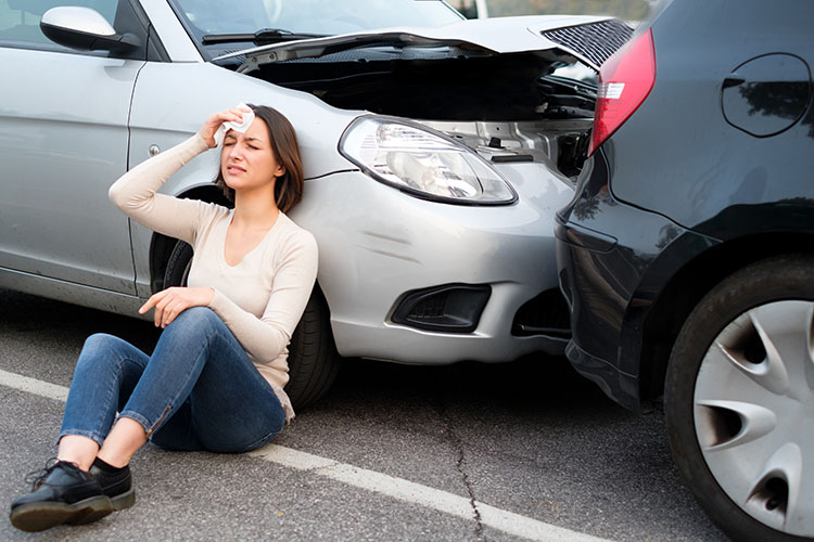 Woman hurt after accident who should call our accident injury attorneys