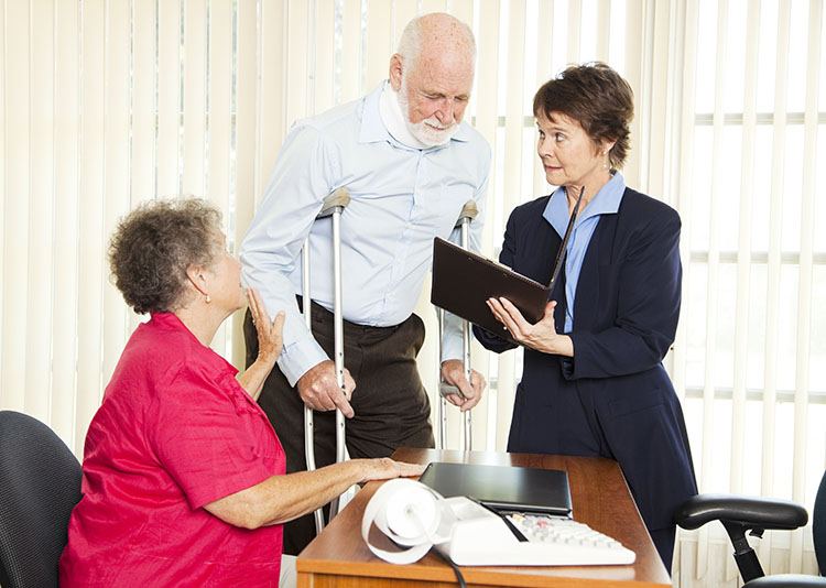 Injured man getting settlement from insurance company